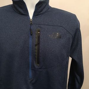 The North face Blue Zip Pullover Size Small